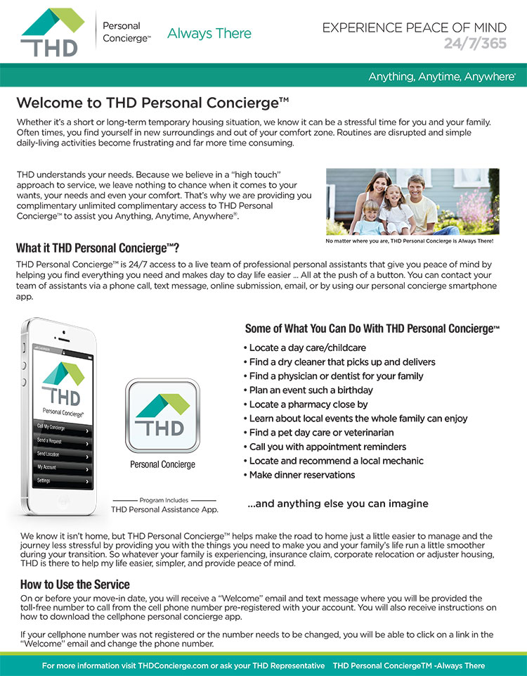 THD Personal Concierge